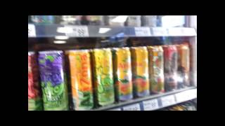 Westwood 7-Eleven Arizona Tea showcase (includes prices and flavor selection)