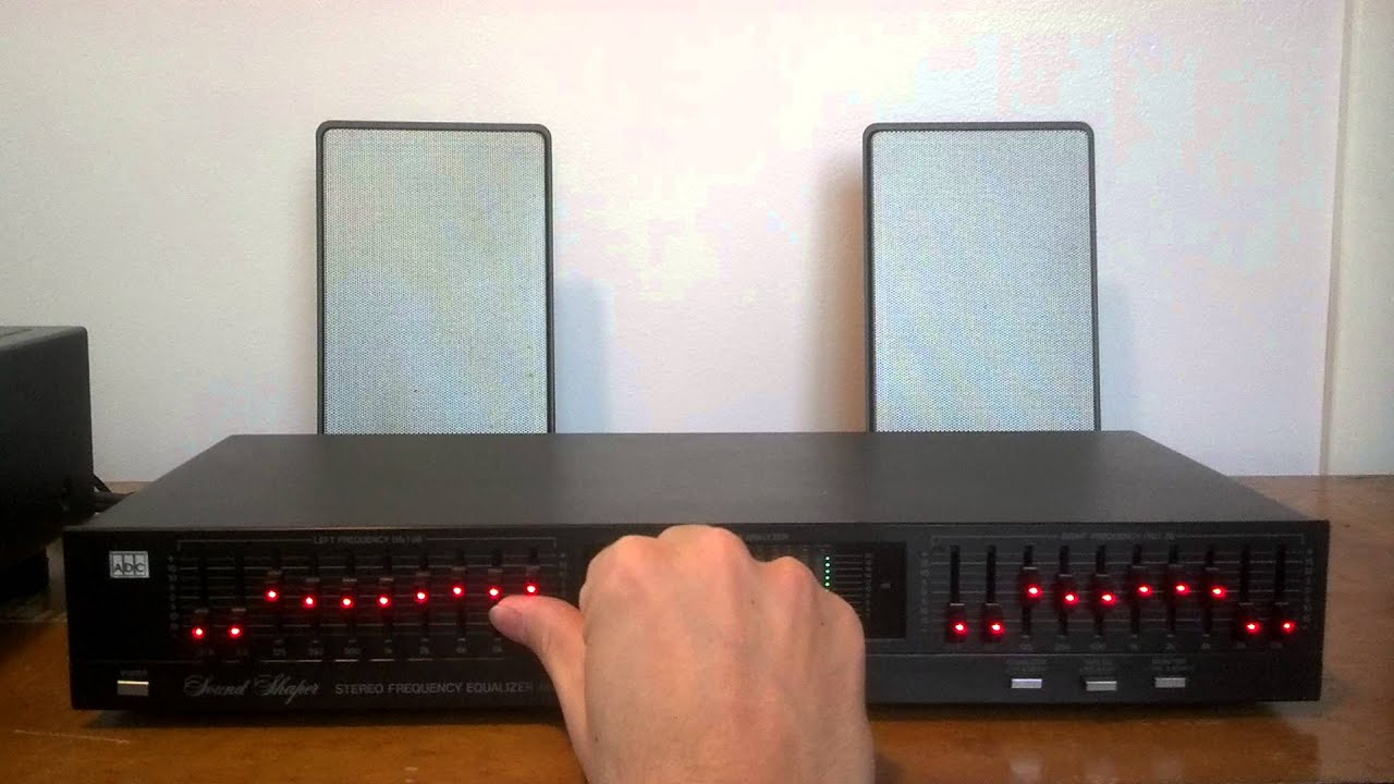 ADC Sound Shaper Stereo 10 band Equalizer Model SS-100SL w