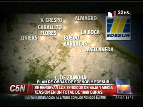 C5N - ENERGIA: PLAN DE OBRAS DE EDENOR Y EDESUR