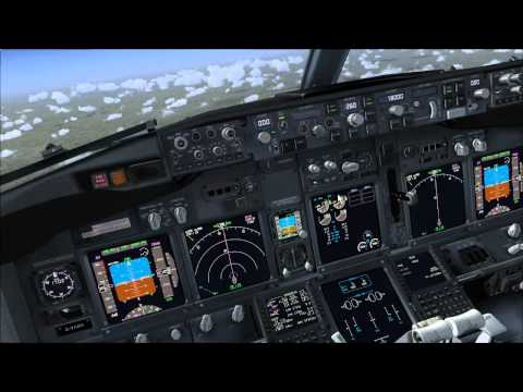 PMDG 737 NGX cockpit look around in-flight (Trackir)
