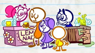 Pencilmate Loves LEMONADE! | Animated Cartoons Characters | Animated Short Films