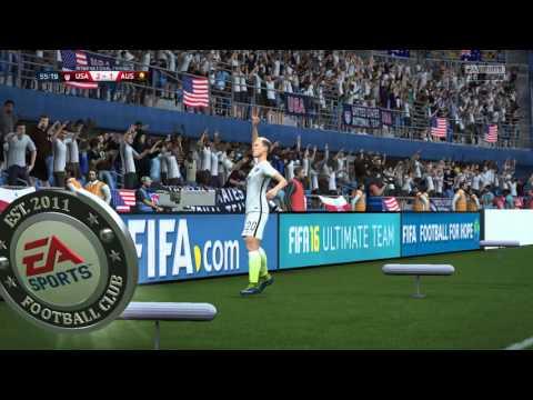 FIFA 16 - USA vs. Australia Women's International Friendly Gameplay