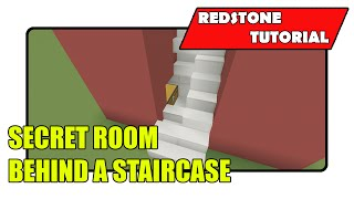 Secret Room Behind A Staircase [Super Simple] (Minecraft Xbox TU20/PlayStation CU8)