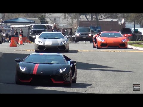 Lamborghini / Ferrari / Nissan GT-R // Leaving Children's M N Car Show 2015