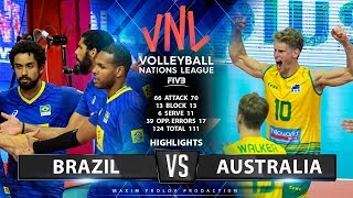 Brazil vs Australia | Highlights | Men's VNL 2019