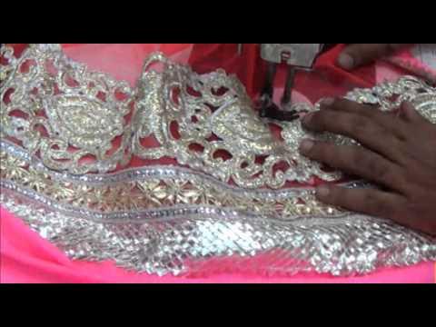 Lehnga Saree Blouse Cutting Stitching Method Tutorial:Lehnga Choli Lase Sewing