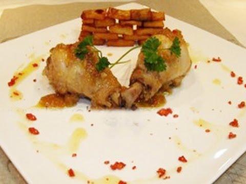 Pollo al ajillo con muro de patatas y bayas de goji/ Chicken in Garlic Sauce by Fran