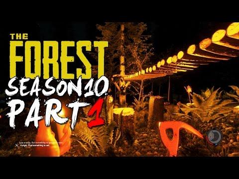 The Forest Alpha 0.10 Season 10 Episode 1 - TREE PLATFORM + TREE BRIDGE!