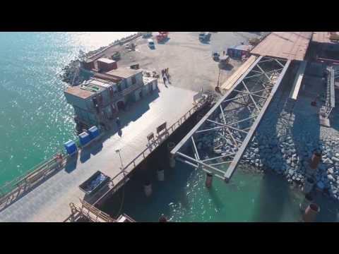 Надвижка пролетов на морские опоры Керченского моста