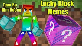 Noob Đập 101 Lucky Block Memes ** Noob Chán Kim Cương Rồi Cho Noob Đồ Đi