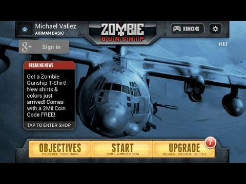 Zombie Gunship Android App Review (Gameplay) (Walkthrough)