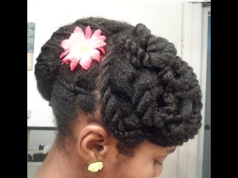 Twisted Banana Clip Updo | Protective Hairstyle #11| 4c Natural Hair