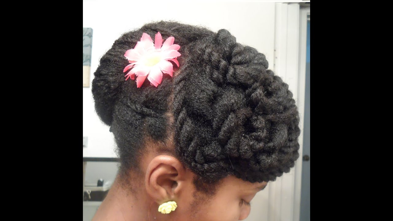 Twisted Banana Clip Updo   Protective Hairstyle 11  4c ...