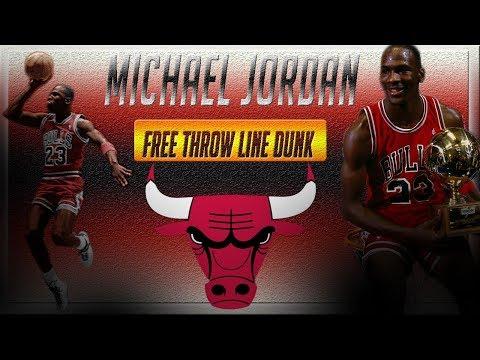 Michael Jordan Historic Free Throw Line Dunk
