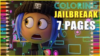 Coloring Jailbreak from the Emoji Movie - Kids Coloring Book | Coloring Pages for Children