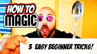 3 EASY MAGIC TRICKS FOR BEGINNERS - How To Magic!