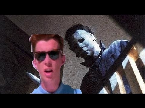 Michael Myers gets rick rolled