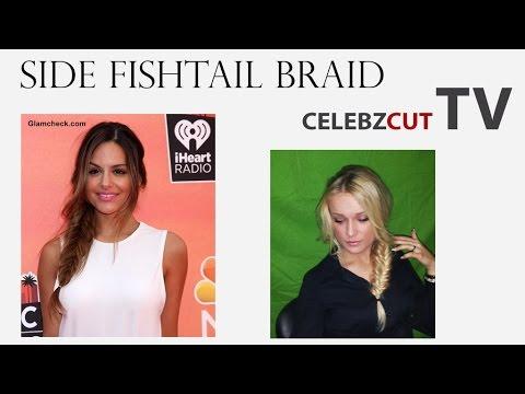 Pia Toscano Side Fishtail Braid tutorial