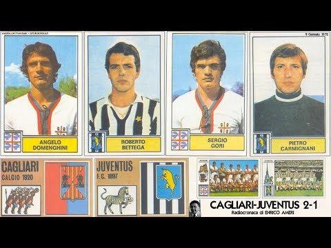 """http://www.tuttoilcalcioblog.it - 9 Gennaio 1972, CAGLIARI-JUVE 2-1 nella voce di ENRICO AMERI a """"Tutto il calcio minuto per minuto"""" MARCATORI: Domenghini 26, Bettega 83, Gori 90 CAGLIARI:..."""