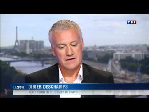 Interview de Didier Deschamps au 20H de TF1