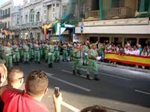 Desfile Militar Legionarios Melilla Español Ejercito