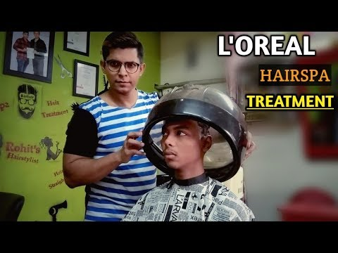 Hair spa & Dandruff Hair Treatment with Loreal product - Step by Step - for Hair fall, Dry Hair.#74