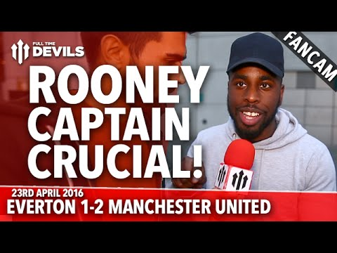 Wayne Rooney the Crucial Captain | Everton 1-2 Manchester United | FANCAM