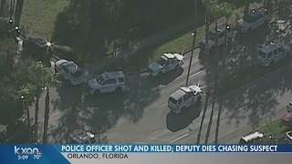 Police officer shot and killed by suspect in Florida, deputy also dies during chase