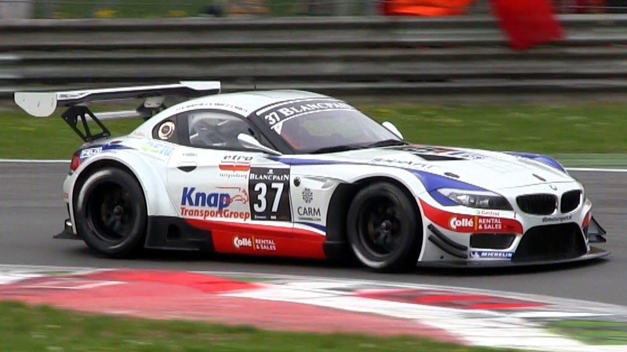 BMW Z4 GT3 Amazing V8 SOUND - YouTube