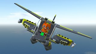 CAT FLYING A PLANE MECH!? (Simple Planes)