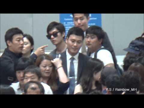 [직캠] 20140628 LeeMinHo Incheon Airport 상해 출국 ~ Shoot by Y.S & Rainbow_MH