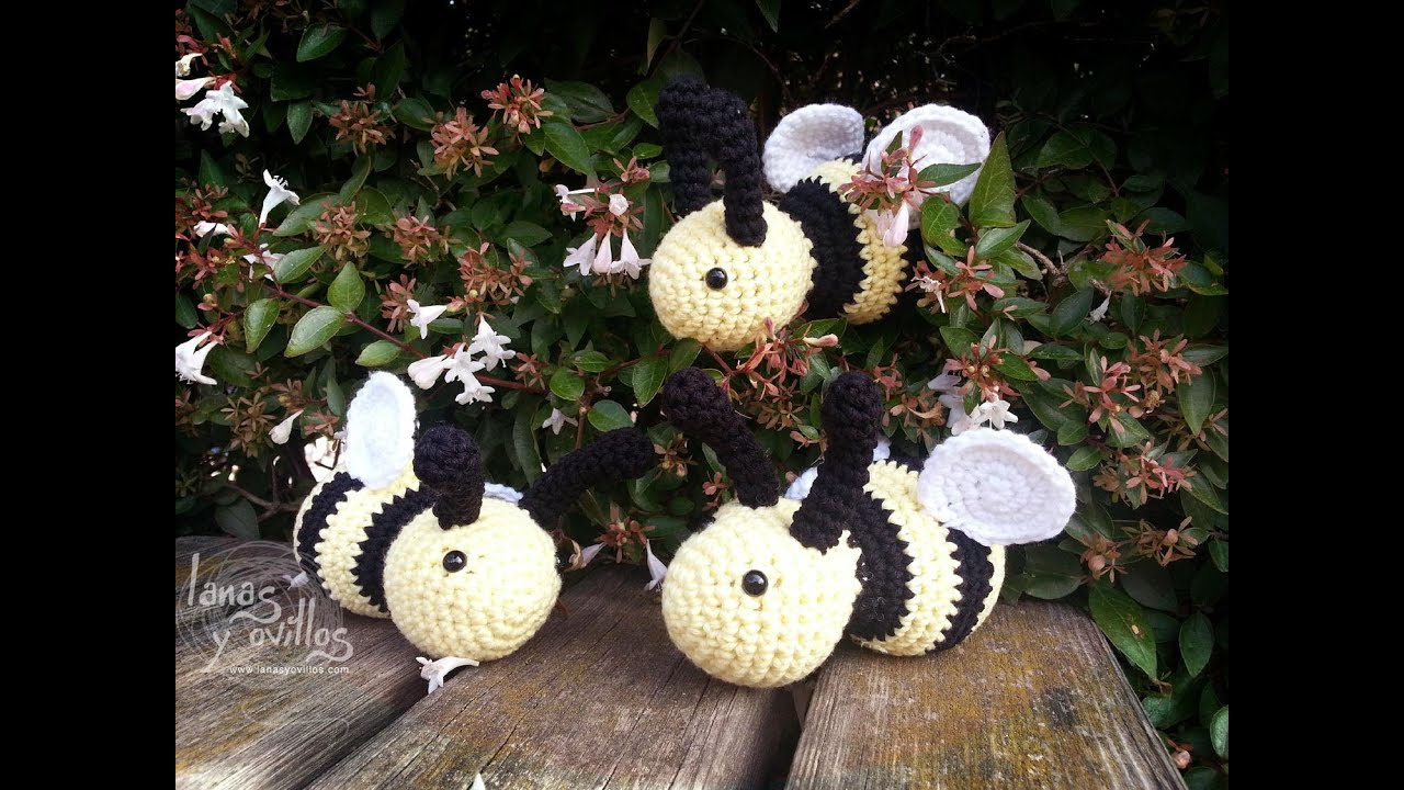 Kitty Abeja Amigurumi : Tutorial Abeja Amigurumi Bee (English subtitles) - YouTube