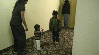 Naman snatching toy from his friend