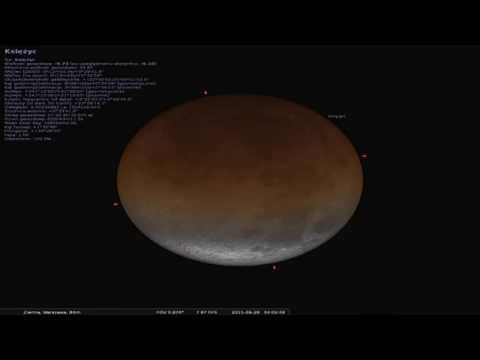 Symulacja zaćmienia Księżyca - noc z 27 na 28 września