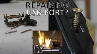 How Not To Repair USB Port On LAPTOP