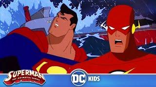 Superman: The Animated Series | Super Flash Team Up | DC Kids