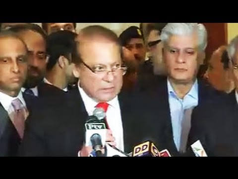 Nawaz Sharif addresses media after meeting Narendra Modi