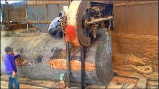Dangerous Biggest Giant Wood Sawmill Machine Working ¦ Amazing Fastest Woodcutting Sawmill Machinery