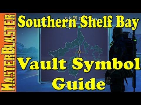 Borderlands 2 Southern Shelf Bay Cult Of The Vault Symbol Challenge Location