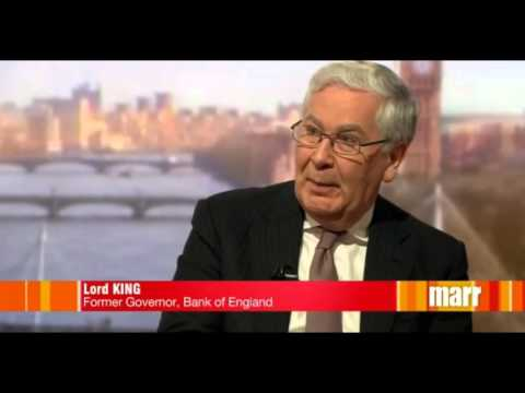 """Fmr Bank of England chief Mervyn King: another financial crisis imminent and """"virtually certain"""""""