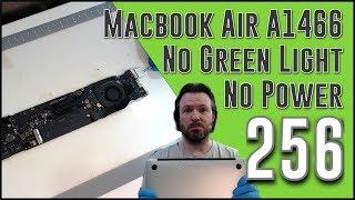 #256 Macbook Air A1466, 820-00165, no power, no green light