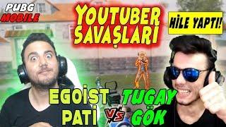 TUGAY GÖK ile VS ATTIK! HİLE YAPTI! PUBG Mobile Youtuber Savaşları (Troll)