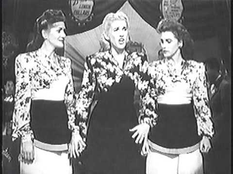 The Andrews Sisters at The Hollywood Canteen