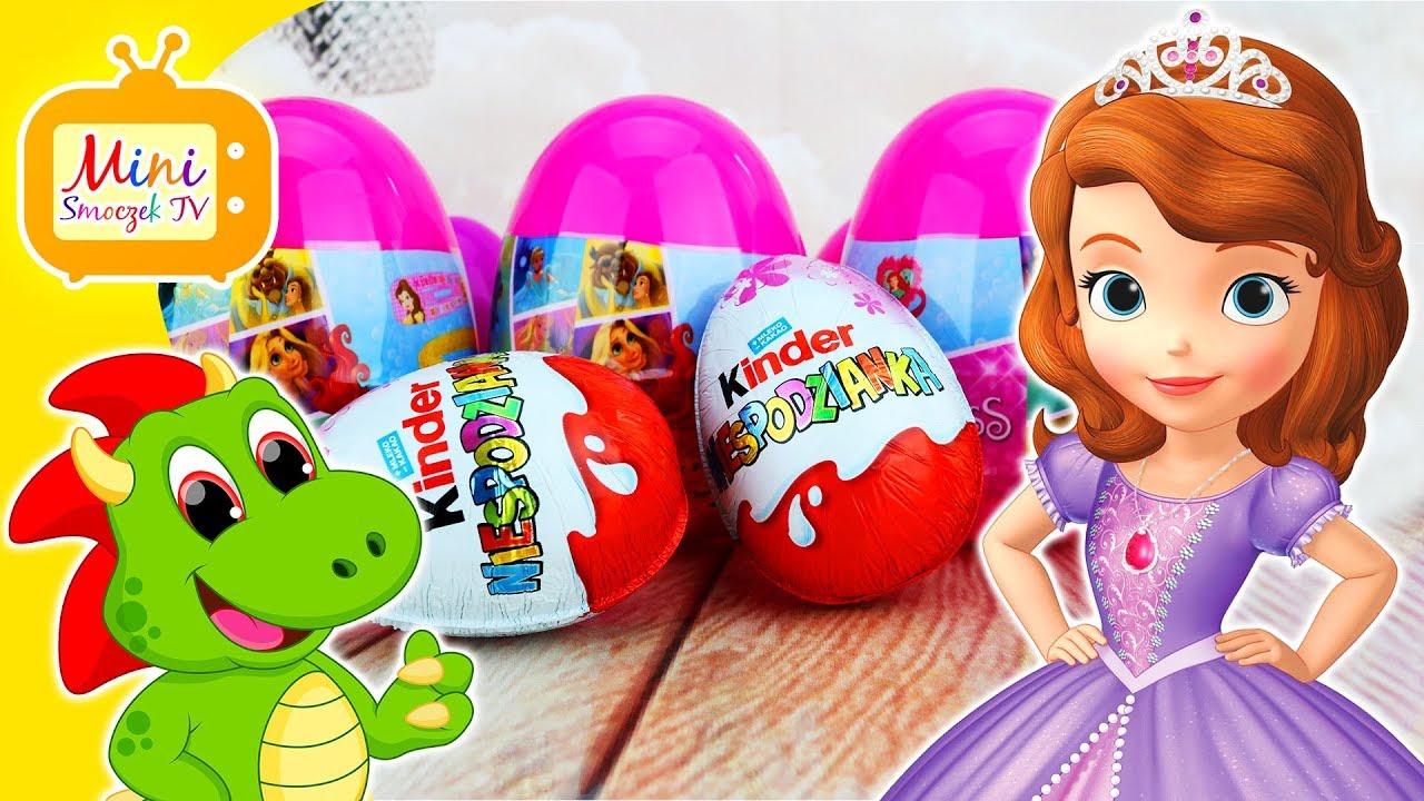 Jej Wysokość Zosia, Jajka Kinder Niespodzianki, Zabawki i Księżniczki Disneya! Filmik Dla Dzieci