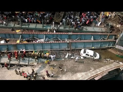 Kolkata Bridge Collapse : Caught On Camera   Full Video