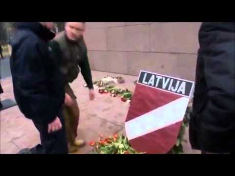SS veteran march in European Union. 16 march 2012. Latvia. Waffen SS Legion Holiday