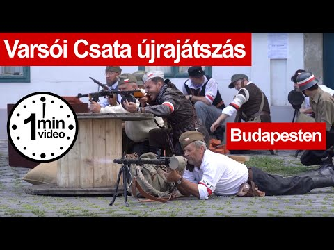 Fegyverropogás Óbudán a 75 évvel ezelőtti Varsói Felkelésre emlékeztek