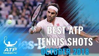 Top 20 Best ATP Tennis Shots from October 2018!
