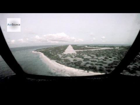 C-130 Low Pass And Landing at an Abandoned Island Airport
