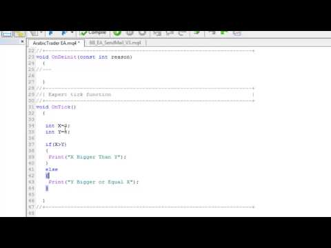 الدرس الخامس تعلم البرمجة بلغة MQL4 - الجمل الشرطيه if و عمليات المقارنه الجزء الثاني